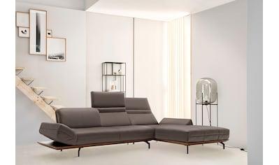 hülsta sofa Ecksofa »hs.420«, in 2 Qualitäten, Holzrahmen in Eiche Natur oder Nußbaum kaufen