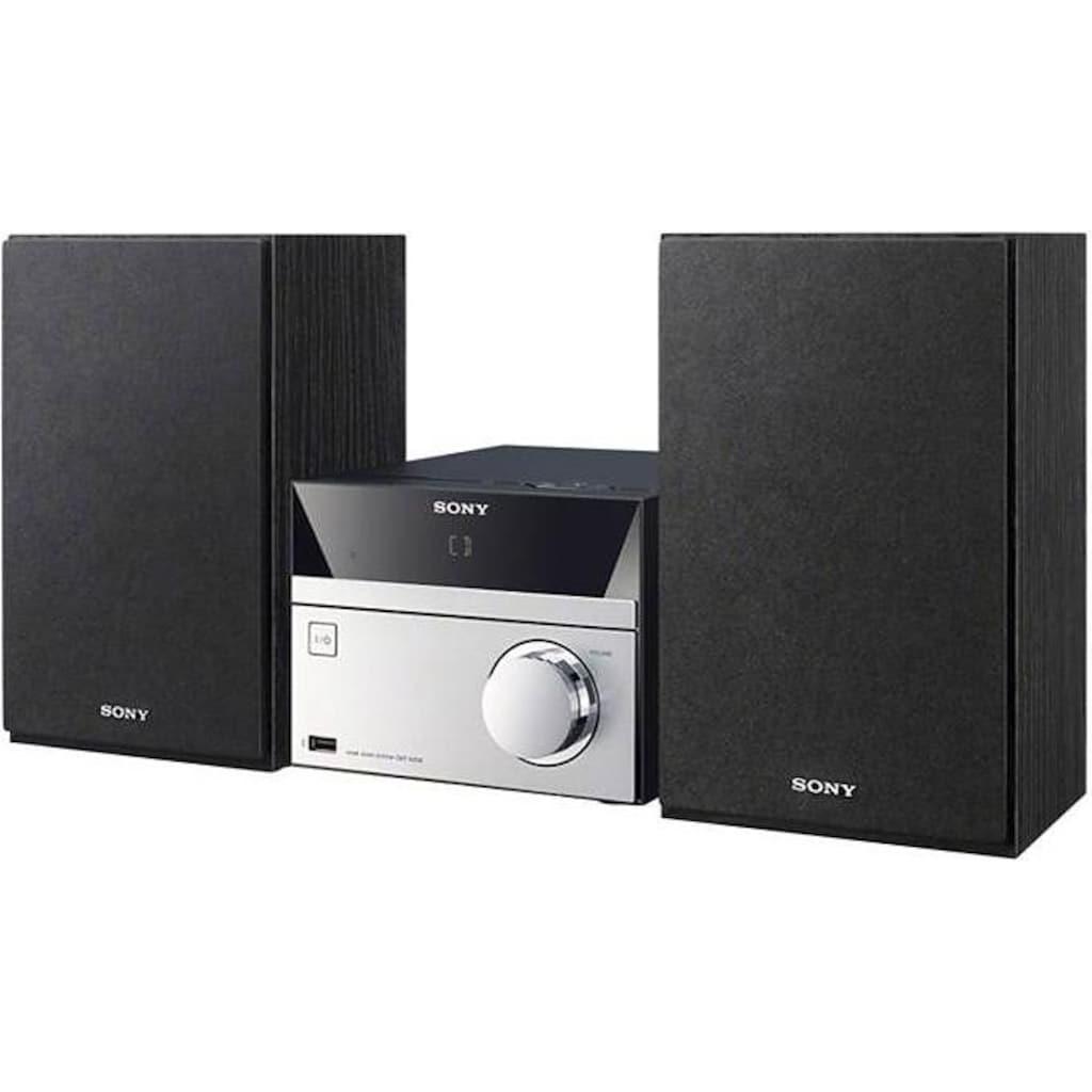 Sony Microanlage »CMT-SBT20B«, (Bluetooth-NFC FM-Tuner mit RDS-Digitalradio (DAB+), MEGA BASS Funktion