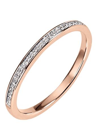 Firetti Diamantring »Ca. 2 mm breit, Kanalfassung, Glanz, massiv«, mit Brillanten kaufen