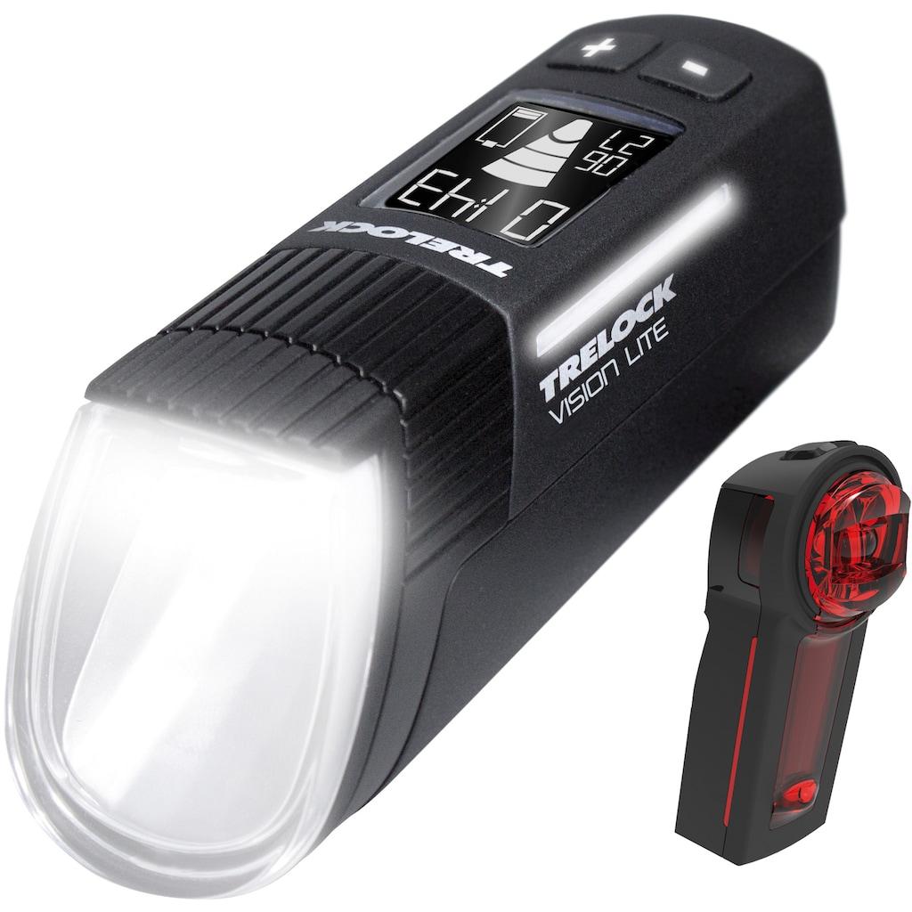 Trelock Fahrradbeleuchtung »LS 660 I-GO VISION LITE / LS 740 VECTOR SIGNAL SET«, (Front- und Rücklicht)