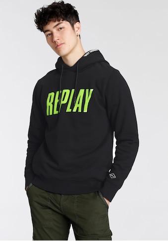 Replay Kapuzensweatshirt, mit großen Frontprint kaufen