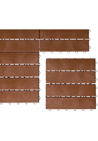 UPP Terrassenplatten »Optik Holzdiele«, Klickfliesen kaufen