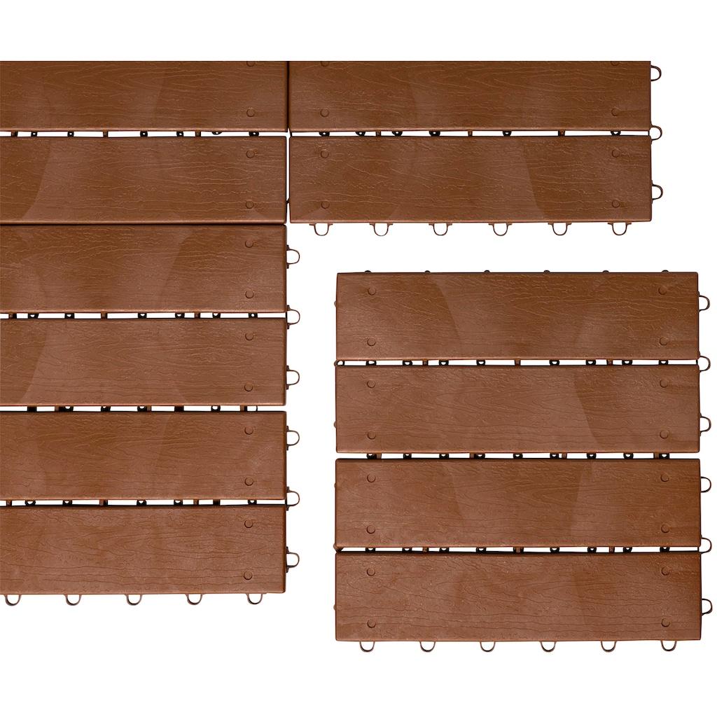 UPP Terrassenplatten »Optik Holzdiele«, Klickfliesen