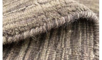 morgenland Wollteppich »Loribaft Teppich handgewebt braun«, rechteckig, 15 mm Höhe,... kaufen