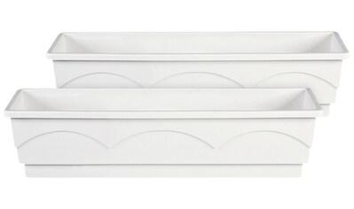 Emsa Blumenkasten »LAGO«, 2er - Set, BxTxH: 75x22x18 cm, weiß kaufen