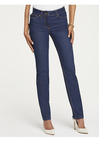 Push - up Jeans mit Kontrast - Stitching kaufen