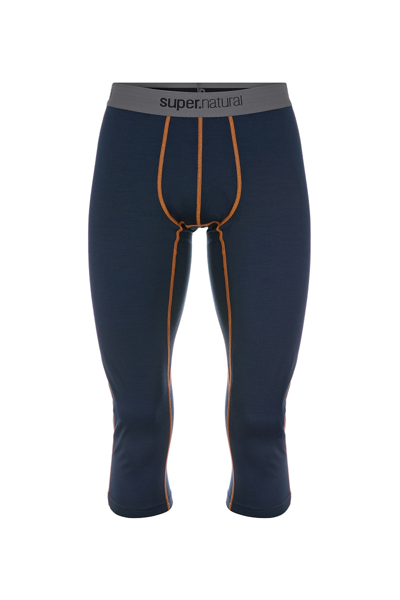 SUPERNATURAL Funktionstights M BASE 3/4 TIGHT 230 | Sportbekleidung > Sporthosen > Tights | Blau | Jersey - Wolle | Super.Natural