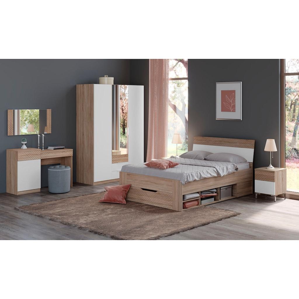 """INOSIGN Nachttisch »Greta«, Nachtkommode """"Greta"""" mit dekorativen Fräsungen, Push-to-open-Funktion"""