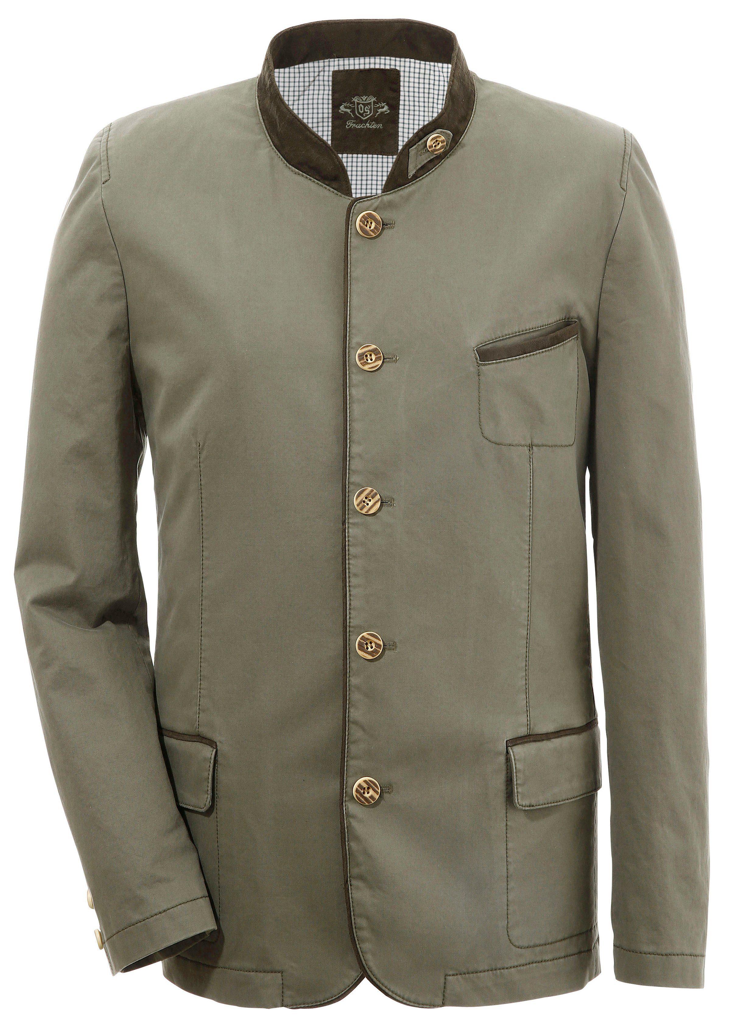 OS-Trachten Trachtensakko mit Stehkragen   Bekleidung > Sakkos > Trachtensakkos   Grün   Polyester   Os-Trachten