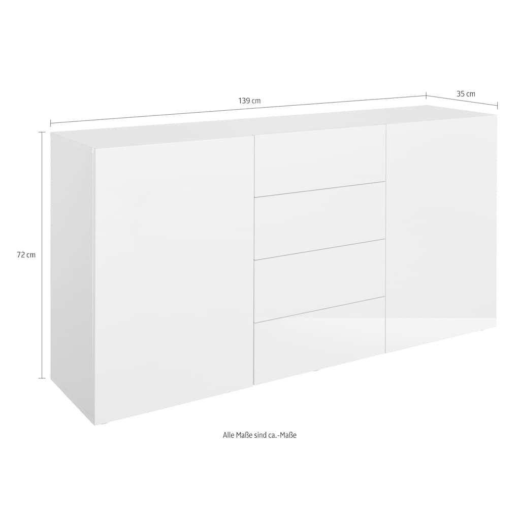 borchardt Möbel Sideboard, Breite 139 cm