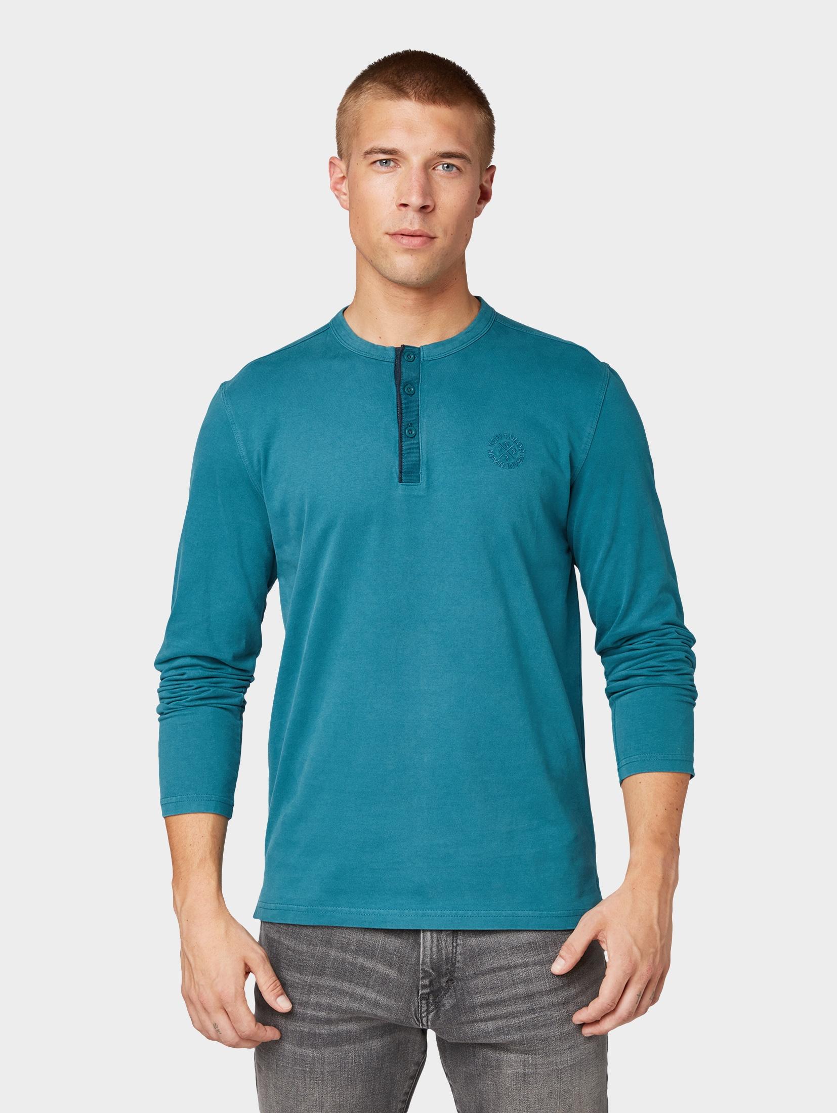 tom tailor -  Langarmshirt Henley-Shirt