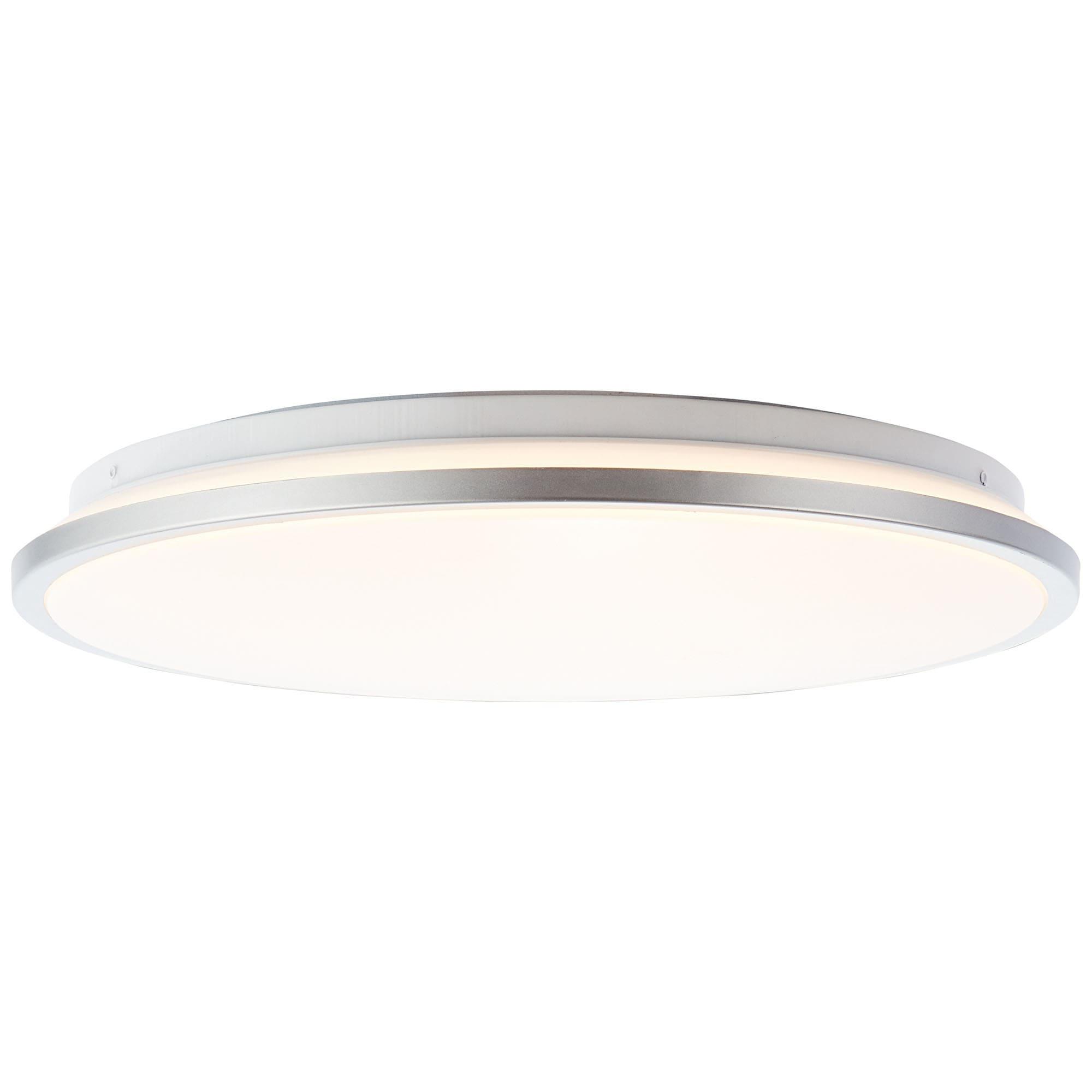 Brilliant Leuchten Jamil LED Wand- und Deckenleuchte 39cm weiß/silber