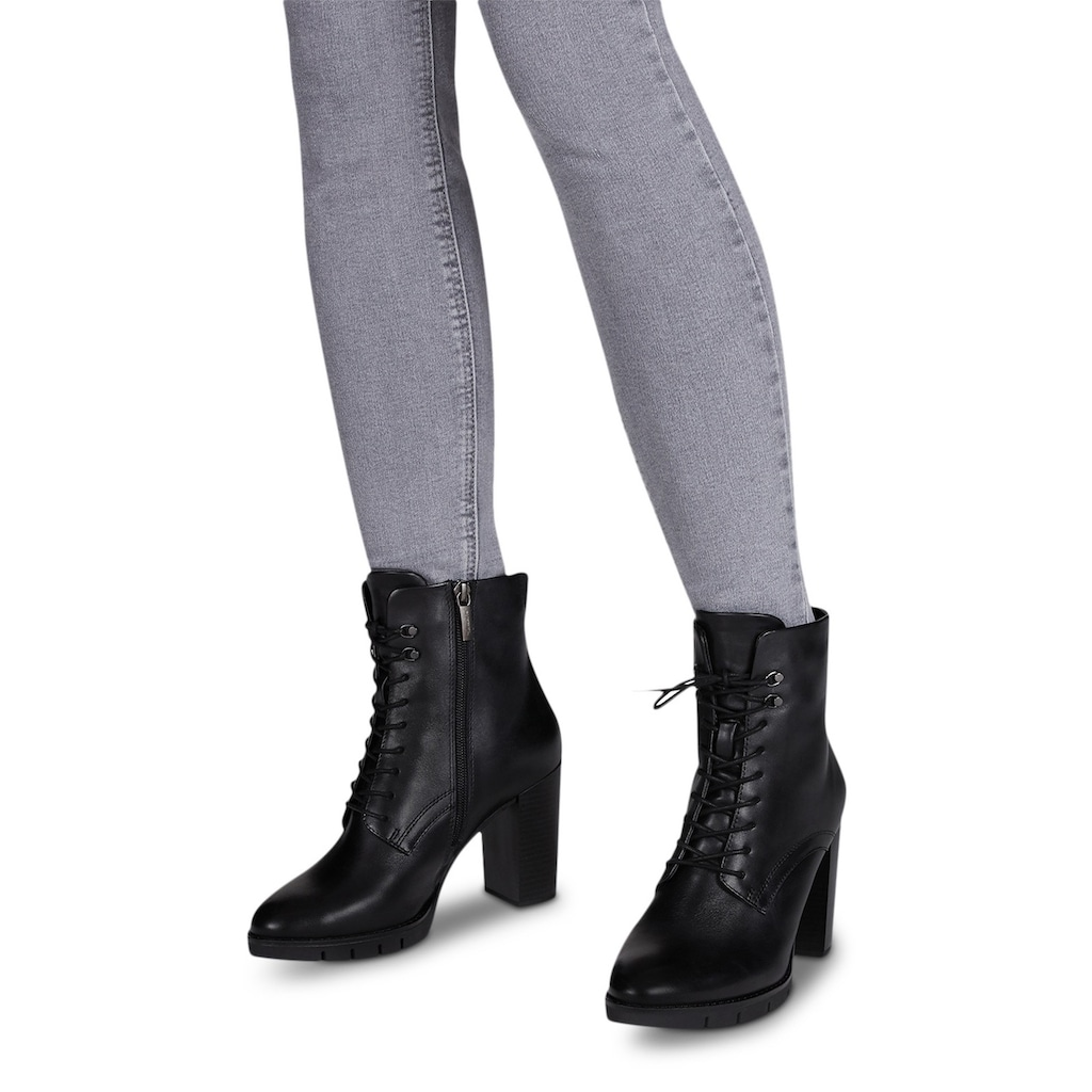 Tamaris High-Heel-Stiefelette »Anra«, in abgerundeter Form