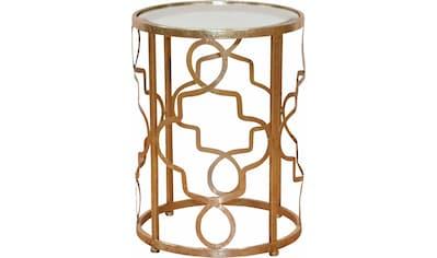 Leonique Beistelltisch »Noëlle«, mit Spiegelglasplatte und goldfarbenem Metallgestell kaufen
