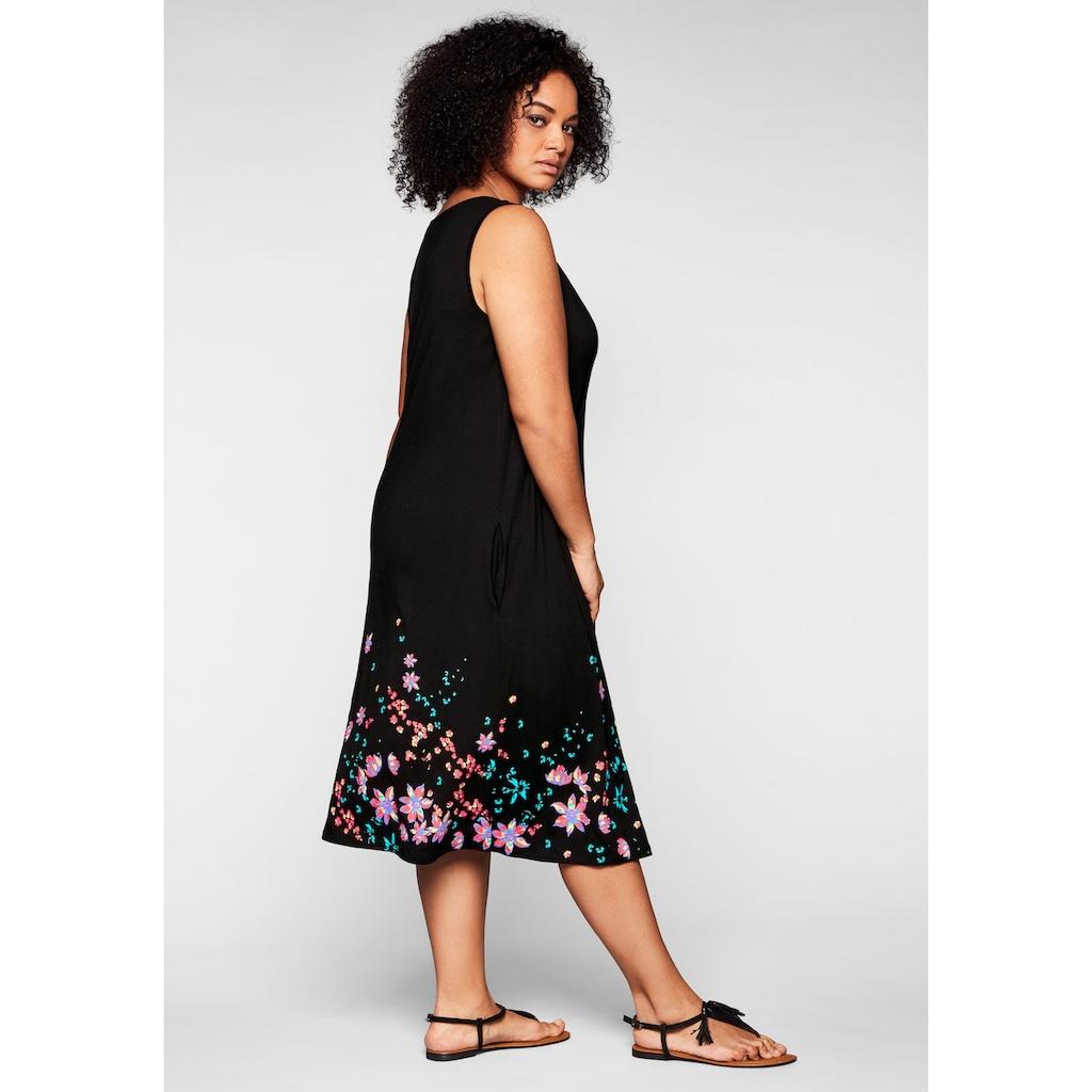 Sheego Strandkleid, in ärmelloser Form, mit Faltendetails