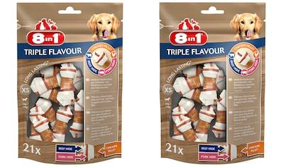 8in1 Kauknochen »Triple Flavour XS«, (42), 2x 21 Stück kaufen
