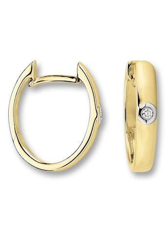 ONE ELEMENT Paar Creolen »Orhringe / Creolen aus 585 Gelbgold mit 0,02 ct Diamant« kaufen