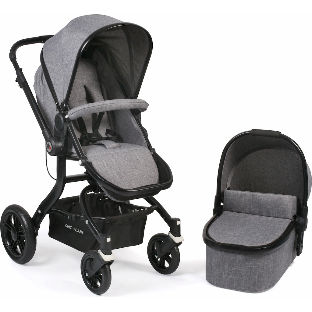 CHIC4BABY Kombi-Kinderwagen »Tano, grau«, 15 kg, ; Kinderwagen