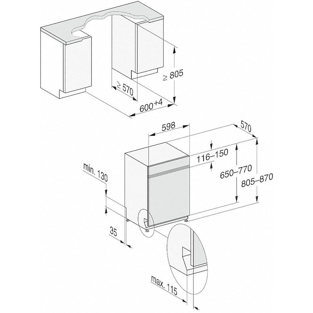 Miele teilintegrierbarer Geschirrspüler »G 7100 SCi«, G 7100 Sci, 14 Maßgedecke