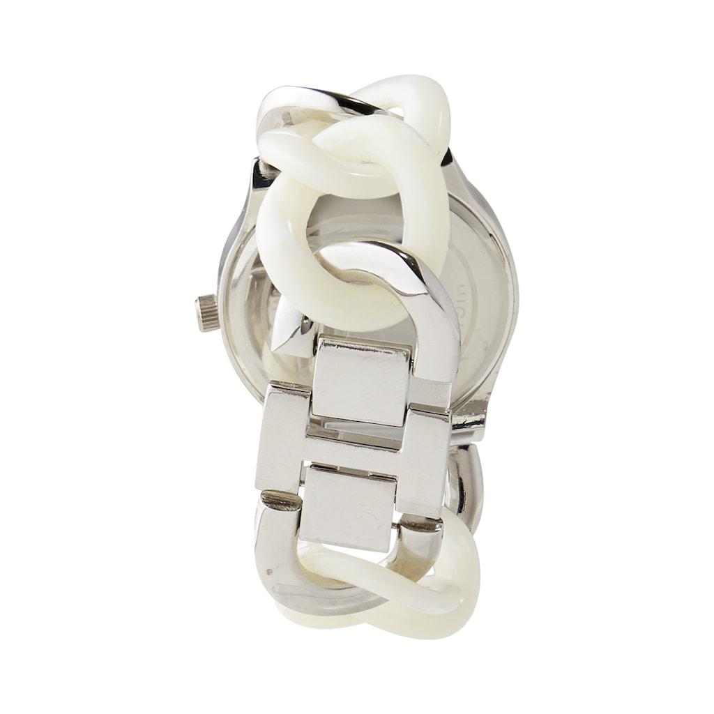 Armbanduhr mit Glassteinen