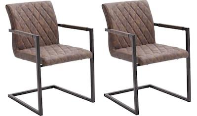 MCA furniture Freischwinger »Kian«, 2-er Set, Vintage Kunstleder mit oder ohne Armlehne, Stuhl belastbar bis 120 kg kaufen
