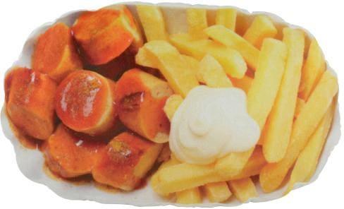 United Labels Kissen Pommes und Currywurst