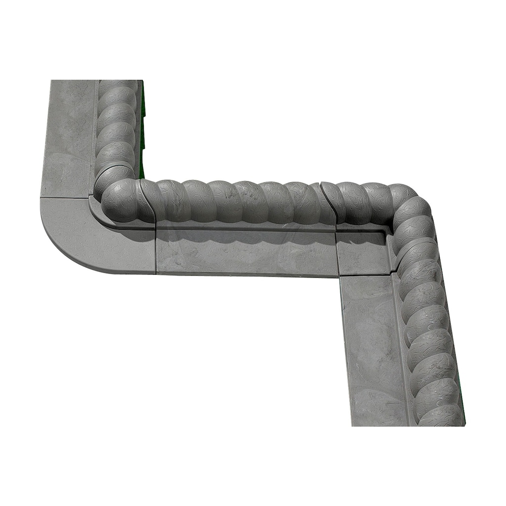 Gaede Rasenkante »Innenecke Stein«, Kunststoff