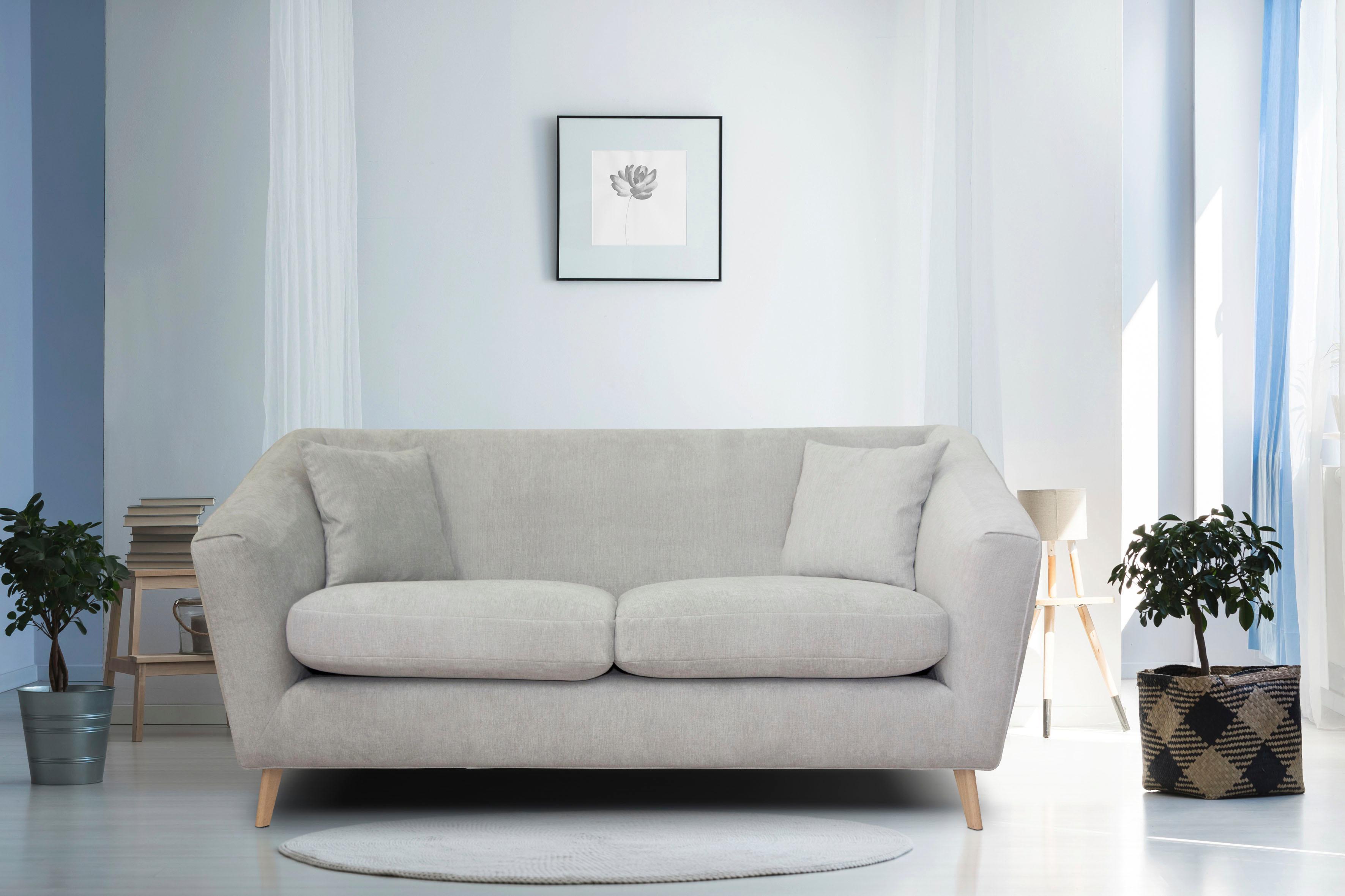 Home affaire 2-Sitzer »Lea« mit Kedernaht und Holzfüßen