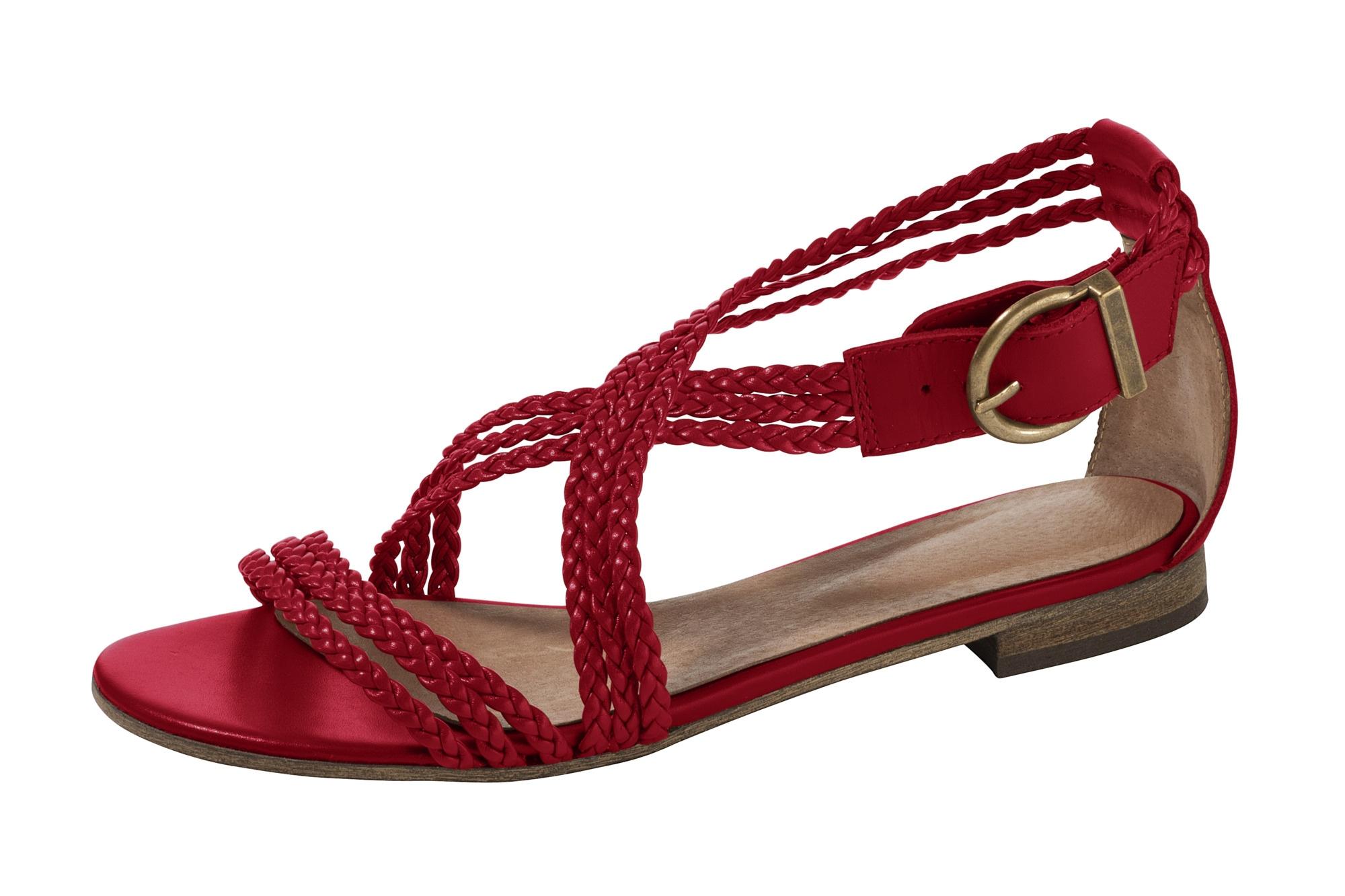 heine -  Sandalette mit geflochtenen Riemchen
