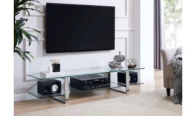 Leonique TV-Board »Colmar«, mit zwei Glasablageflächen Klarglas oder weiß Marmoroptik,... kaufen