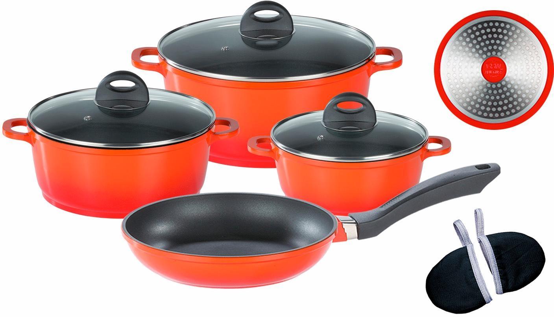 GSW Topf-Set Gourmet Orange Shadow (Set, 9-tlg.) orange Topfsets Töpfe Haushaltswaren Topf