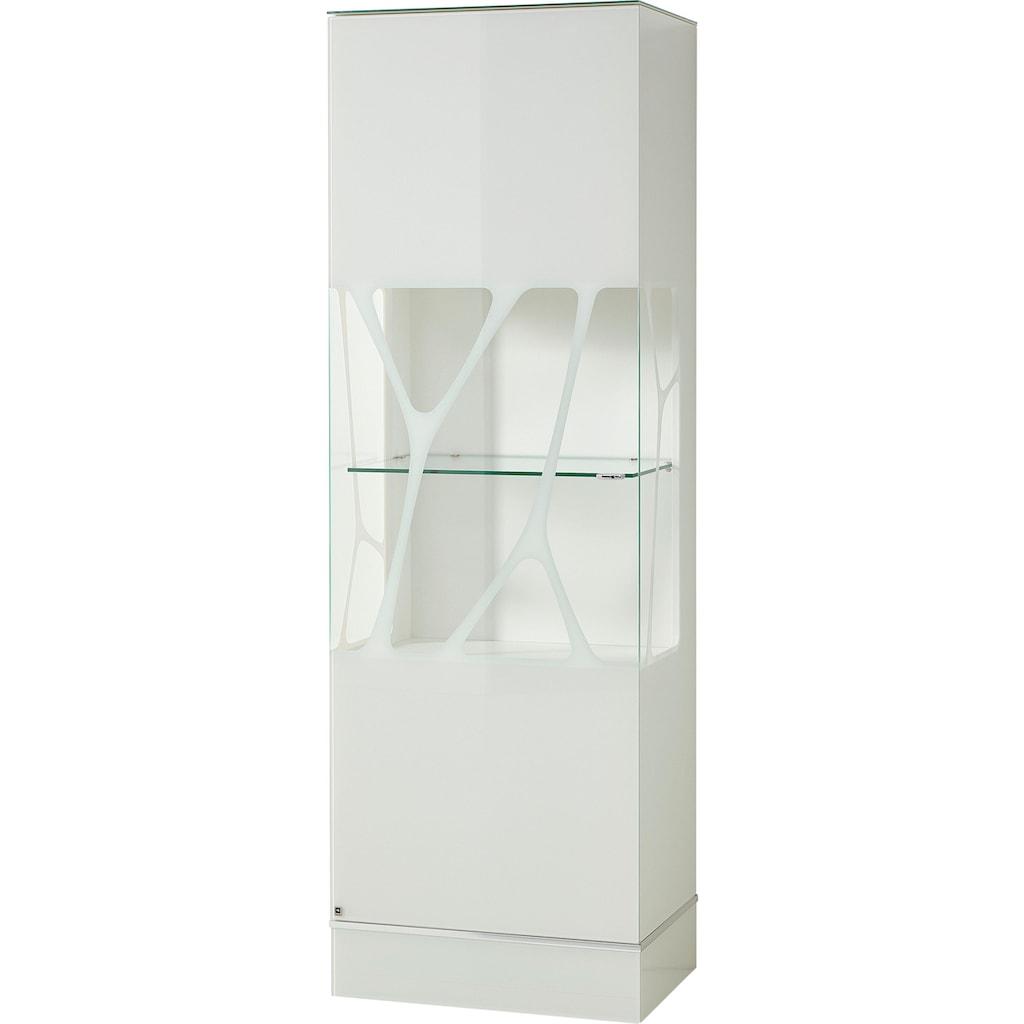LEONARDO Glasvitrine »CUBE«, mit Genetics, wahlweise mit Beleuchtung, Höhe 192 cm