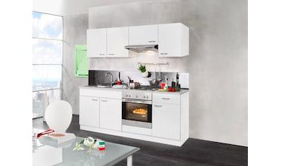 wiho Küchen Küchenzeile »Valencia«, mit E-Geräten, Breite 210 cm kaufen