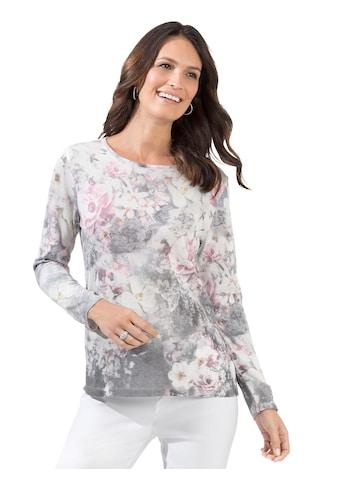 Lady Pullover mit extravagantem Blumen - Muster kaufen