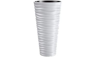 PROSPERPLAST Blumentopf »Sand slim«, weiß, Ø 29,6 kaufen