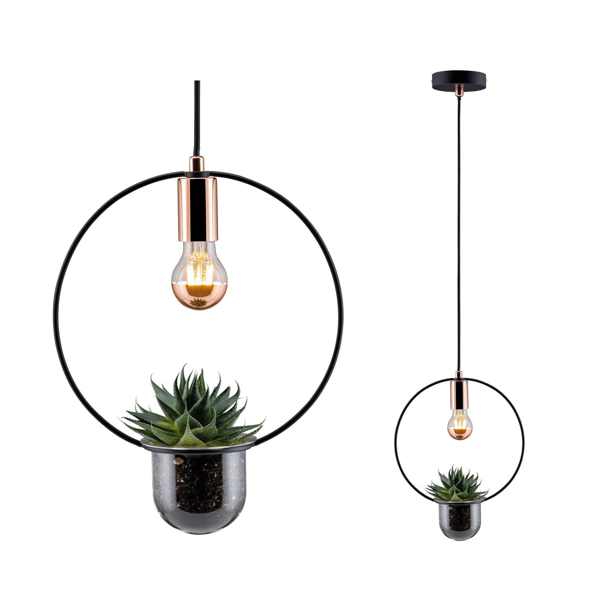 Paulmann LED Tischleuchte Tasja Schwarz/Kupfer 1-flammig Pflanzenleuchte, E27, 1 St.