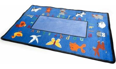 Primaflor-Ideen in Textil Kinderteppich »BILDER & BUCHSTABEN«, rechteckig, 5 mm Höhe, Spielteppich, Alphabet lernen kaufen