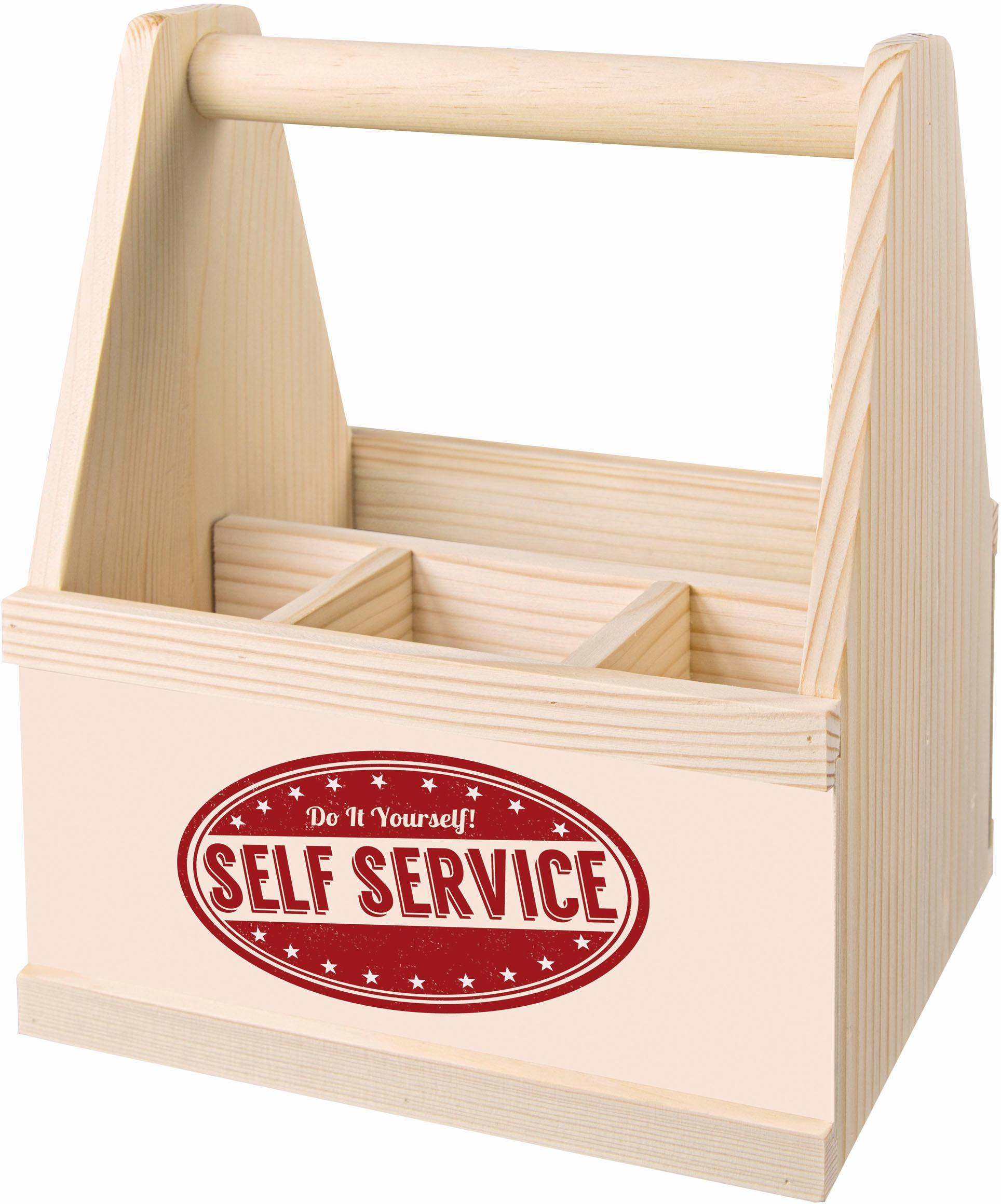 Contento Besteckträger Self Service beige Küchen-Ordnungshelfer Küchenhelfer Küche