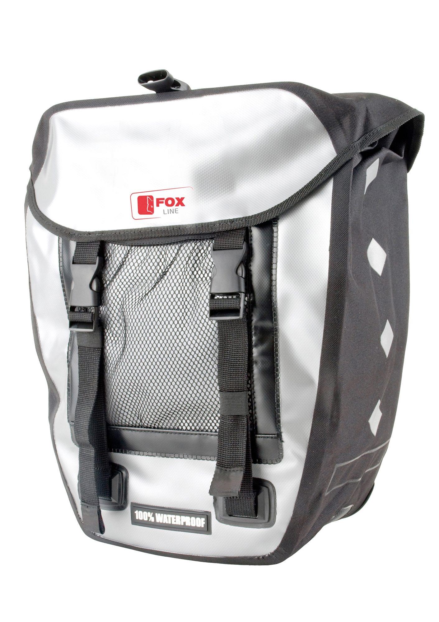 Fox Line Fahrradtasche schwarz Fahrradtaschen Fahrradzubehör Fahrräder Zubehör Taschen