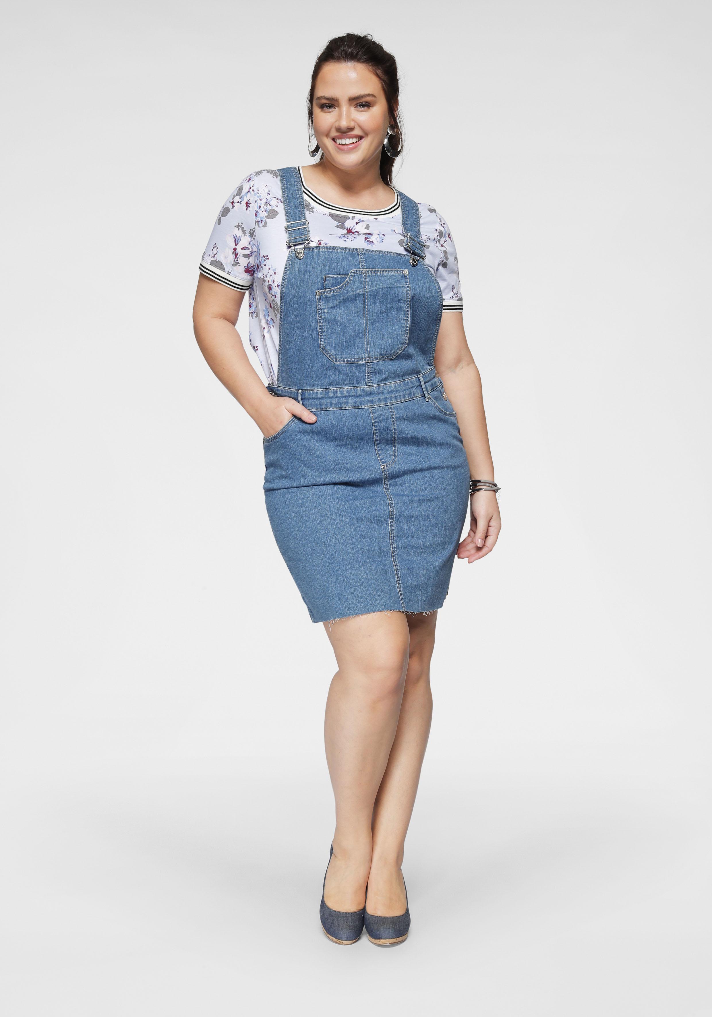 vero moda curve -  Jeanskleid