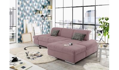 set one by Musterring Ecksofa »SO 4100«, Recamiere links oder rechts, wahlweise mit Bettfunktion kaufen