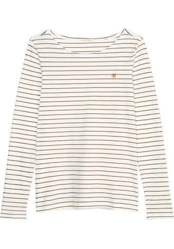 Marc O'Polo Langarmshirt, mit Ringelmuster kaufen