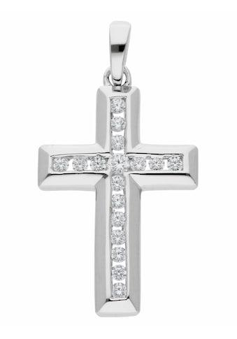 Adelia´s Kettenanhänger »925 Silber Kreuz Anhänger mit Zirkonia« kaufen