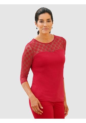 Laura Kent Shirt mit Mesheinsatz kaufen
