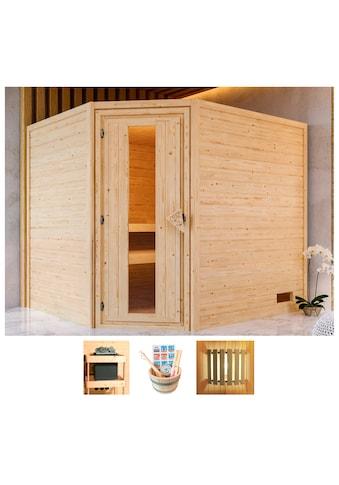 KARIBU Sauna »Lisa«, 231x196x198 cm, ohne Ofen, Energiespartür kaufen