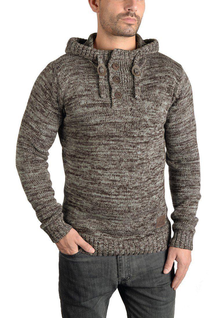 Solid Kapuzenpullover Philon | Bekleidung > Pullover > Kapuzenpullover | Braun | Samt - Leder | Solid