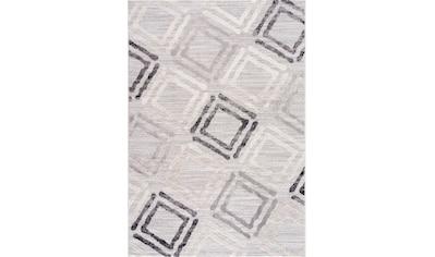 Sanat Teppich »Evra 7005«, rechteckig, 22 mm Höhe, Kurzflorteppich mit Hoch Tief Struktur kaufen