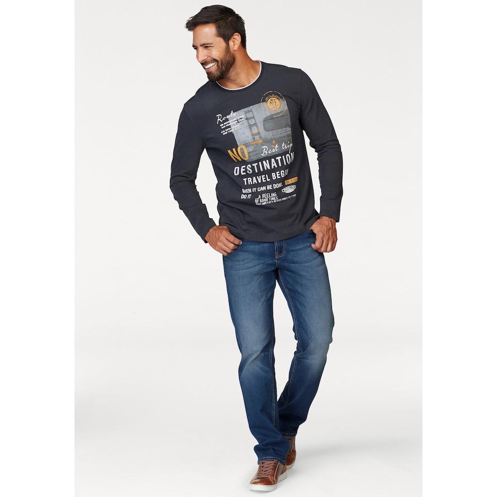 Man's World Langarmshirt, mit mehrfarbigem Print