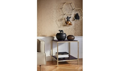 Leonique Beistelltisch »Cherlen«, mit zwei Ablageflächen und goldfarbenem Gestell,... kaufen