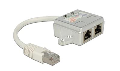 Delock RJ45 Port Doppler »1 x RJ45 Stecker auf 2 x RJ45 Buchsen (2 x ISDN)« kaufen